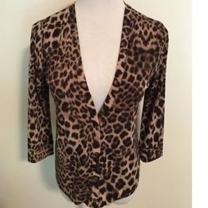 Anne Klein Leopard Cardigan Top